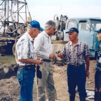3. Roger Benton - Varoujan DerSimonian -with Alex and Mesha at Sis Village Drilling site