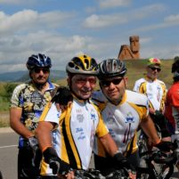 ATG Agro Tour Cyclists Vatche and Saro in Artsakh