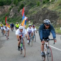 ATG Agro Tour Cyclists on their way Shushi and Artsakh